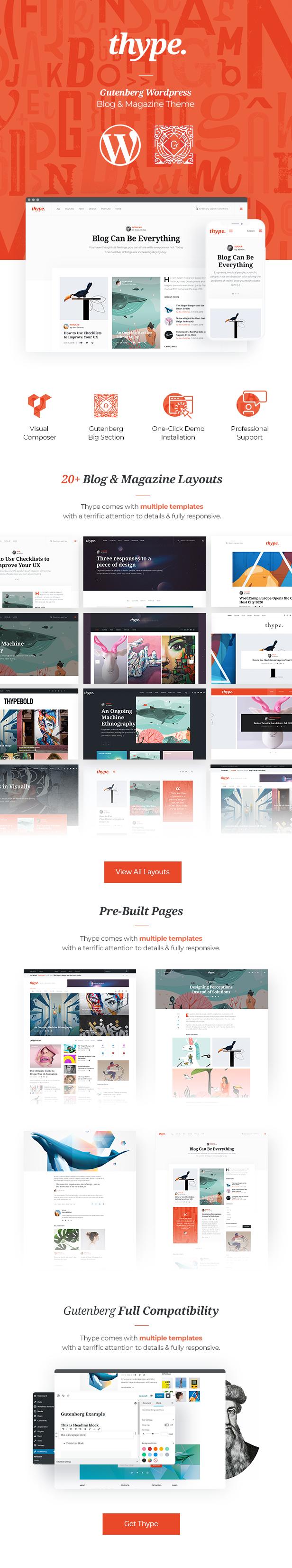 Thype | Multi-concept blog and magazine WordPress theme - 2