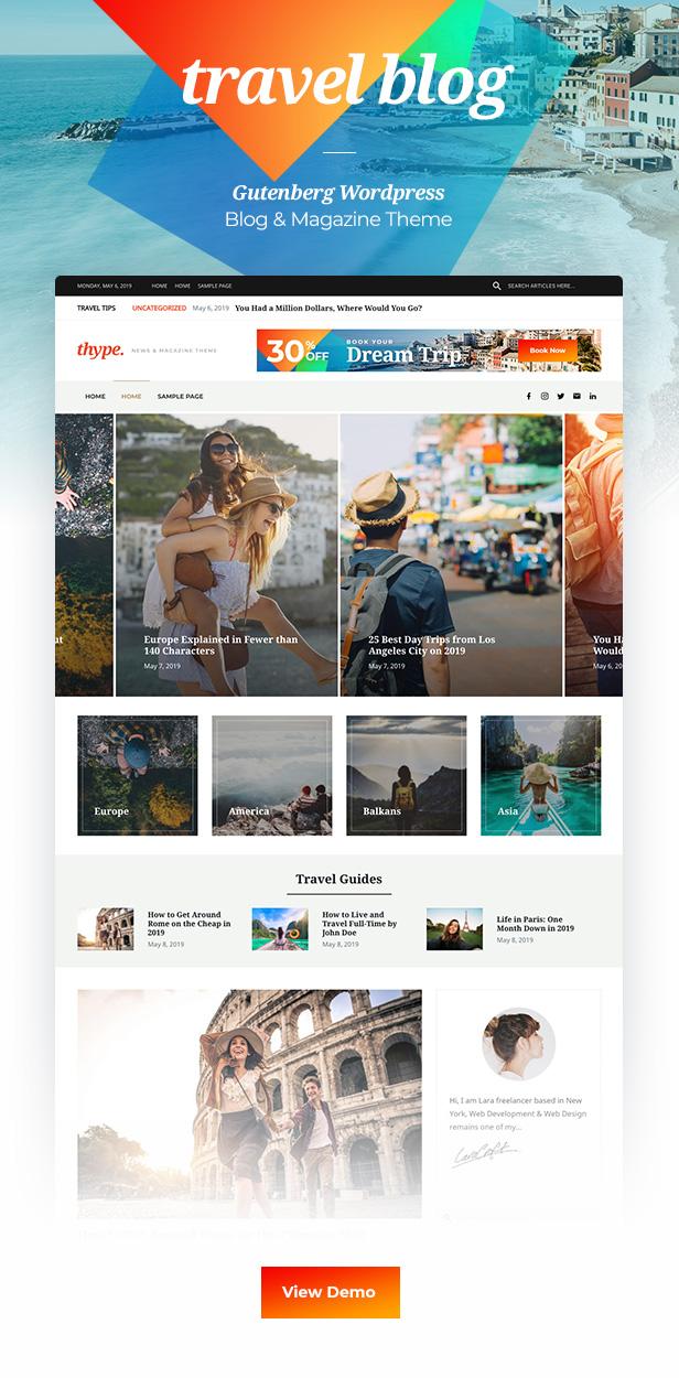 Thype | Multi-Concept Blog and WordPress theme magazine - 1