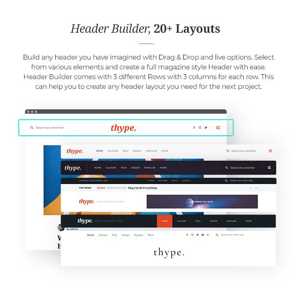 Thype | Multi-concept blog and magazine WordPress theme - 7