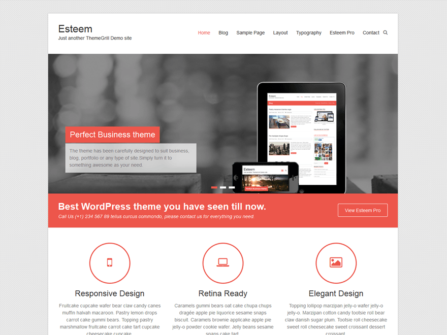 10 top free responsive business wordpress themes 2016 codeless esteem is one of the cleanest multipurpose responsive business wordpress theme ever created it is designed to fit all businesses needs cheaphphosting Image collections