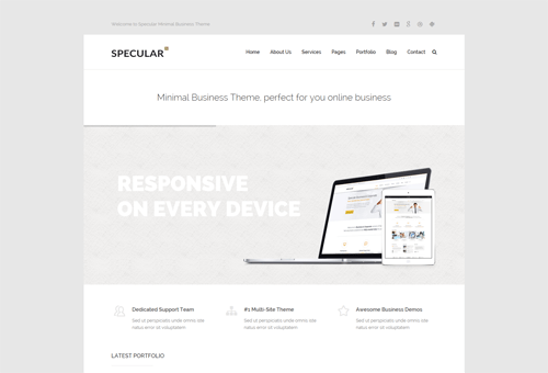 Specular BizMinimal WordPress Theme