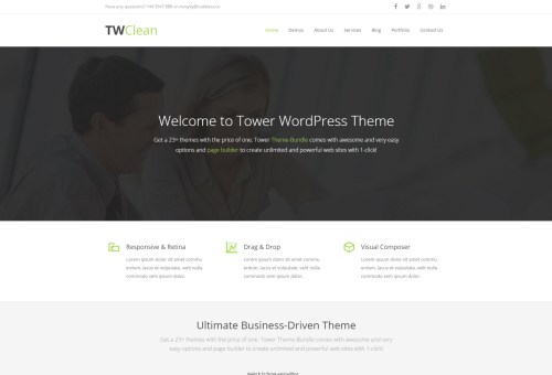 Tower Clean WordPress Theme