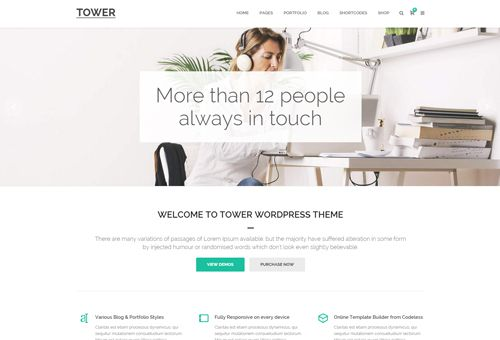 Tower Corporate WordPress Theme