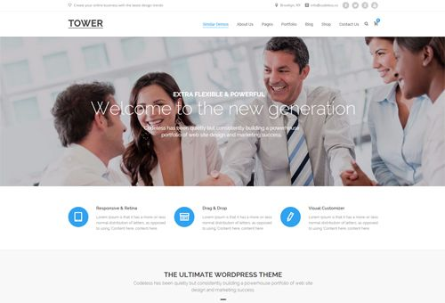 Tower Landing WordPress Theme