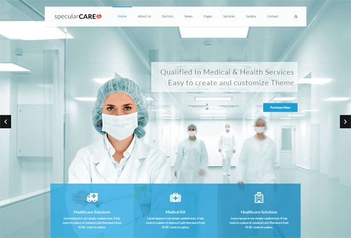 Specular Medicine WordPress Theme