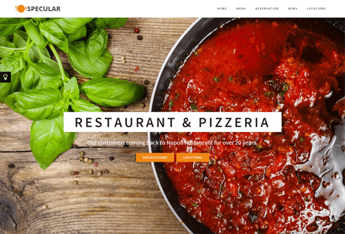 Specular Restaurant WordPress Theme