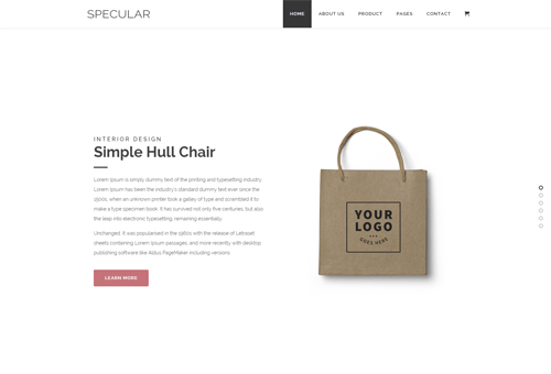 Specular Sliding WordPress Theme