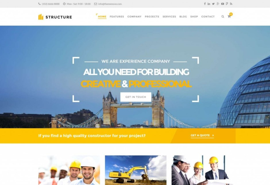 Construction WordPress Theme – Structure – The best Construction WordPress theme-compressed