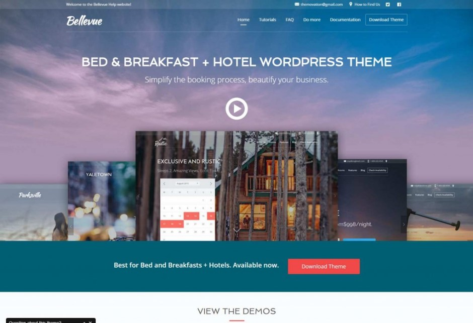 Bed and Breakfast Hotel WordPress Theme Bellevue a Bed and Breakfast WordPress Theme-compressed