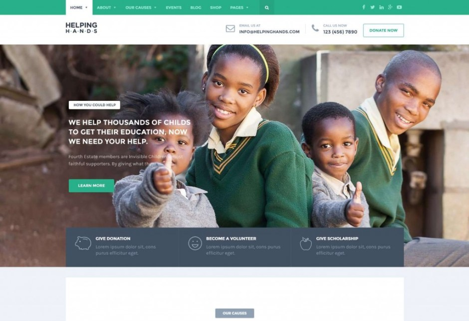 Charity Foundation WordPress Theme – Just another The Web Design Factory Sites site-compressed