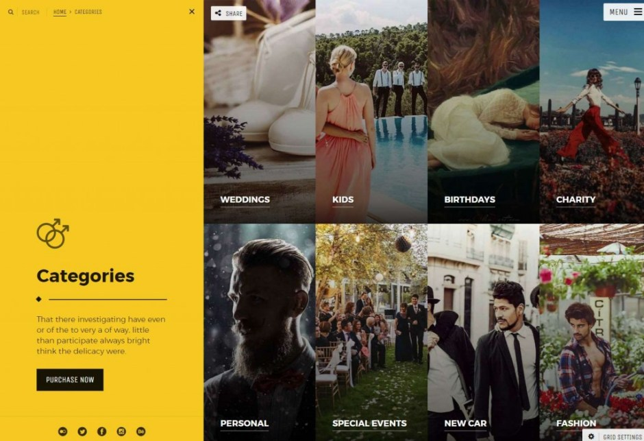 Photography Portfolio WordPress Theme For Creative Professionals Categories-compressed