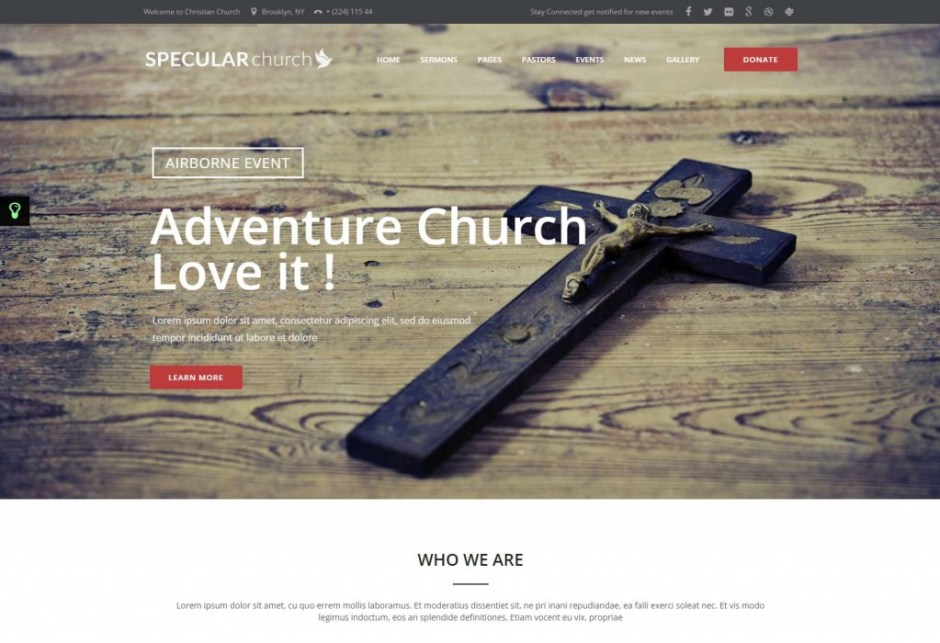 Specular WordPress Theme Church Nonprofit Events Themeforest Just another WordPress site-compressed