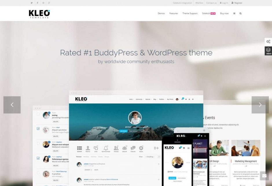 BuddyPress WordPress Premium Theme KLEO Template-compressed