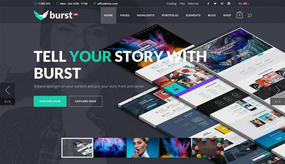 Burst A Bold and Vibrant WordPress Theme-compressed