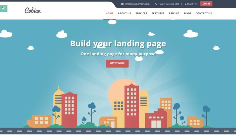 Cobian flat bootstrap landing page-compressed