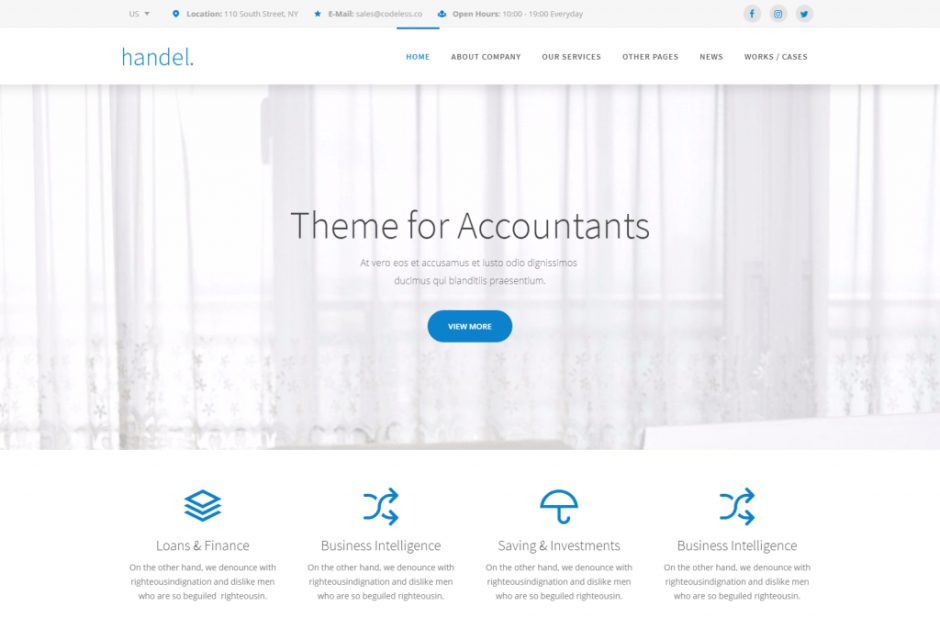Handel Finance – Responsive Multi Purpose Business WordPress Theme – Just another WordPress site