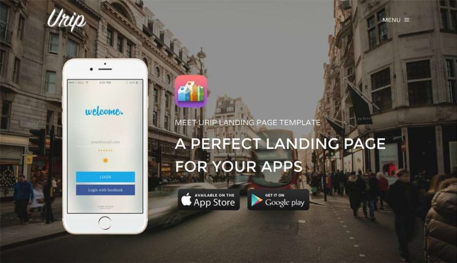 Urip Landing Page Template Mobile App Layout-compressed
