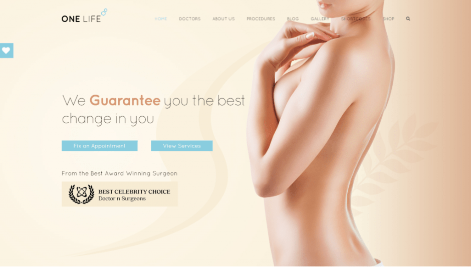 onelife-wordpress-medical-theme-for-plastic-surgery