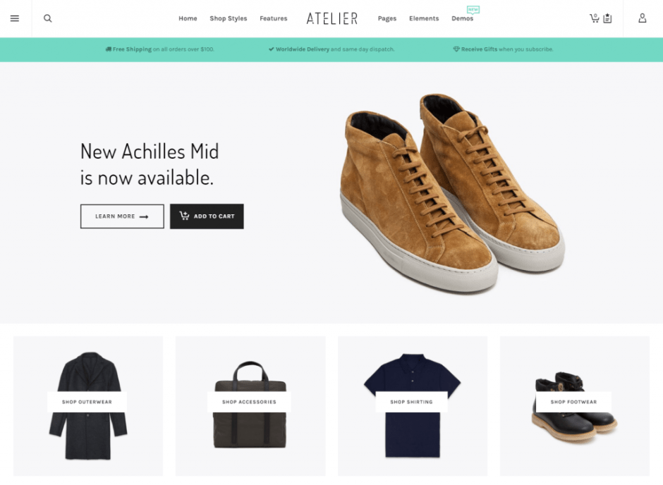 Atelier Premium WordPress Theme