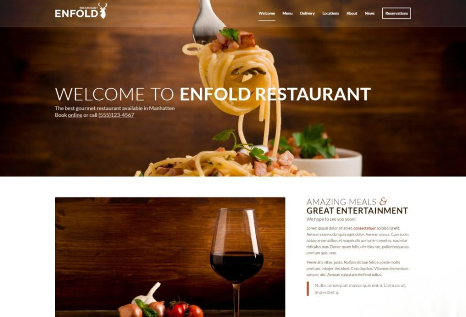 Enfold Restaurant Demo – Just another Kriesi-compressed