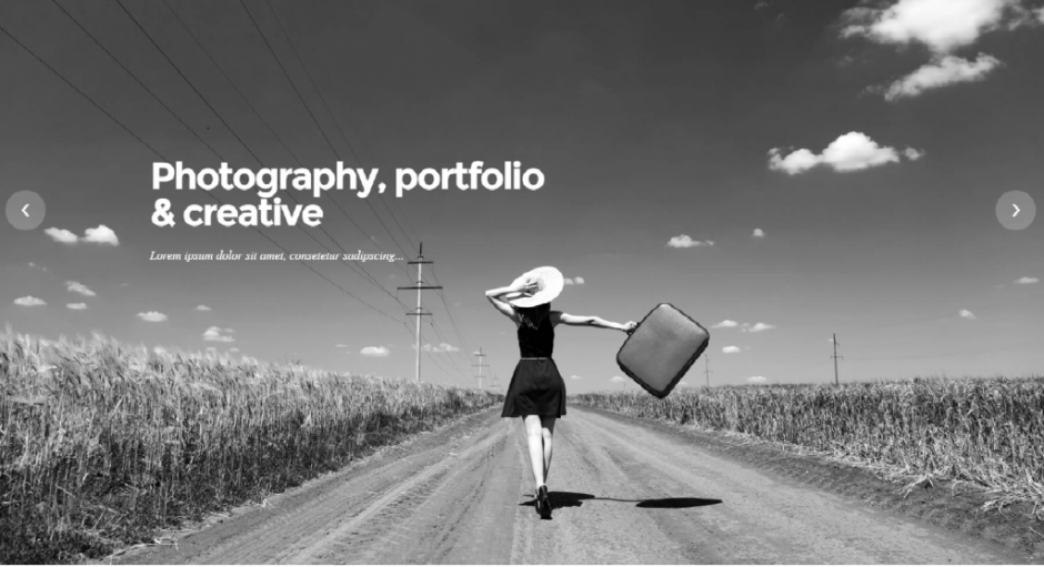 Fullscreen Bordered Portfolio Tower – Portfolio Gallery Photography WordPress Themem
