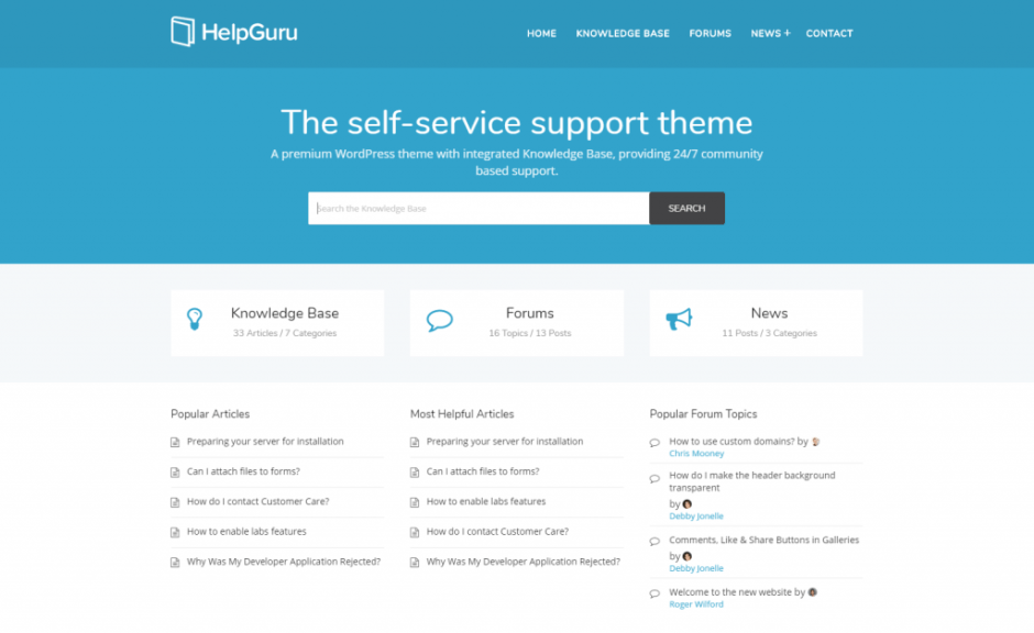HelpGuru – A Heroic WordPress Theme