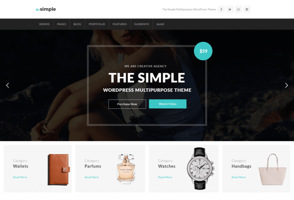 Home Shop Fullwidth – The Simple