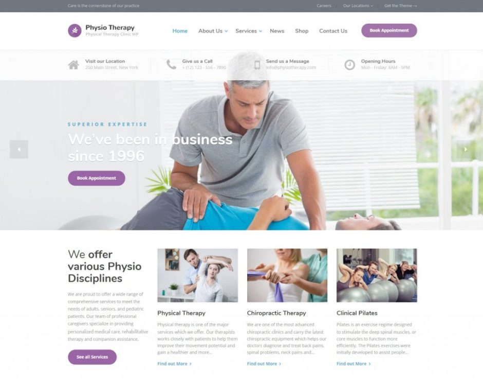 Physio Physical Therapy Medical Clinic WordPress Theme Demo-compressed