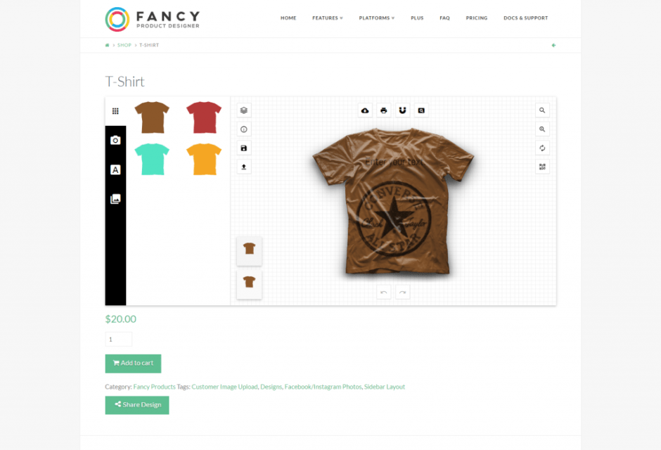 T Shirt Fancy Product Designer