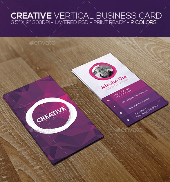 Creative Vertical Business Card by ZeusEx GraphicRiver
