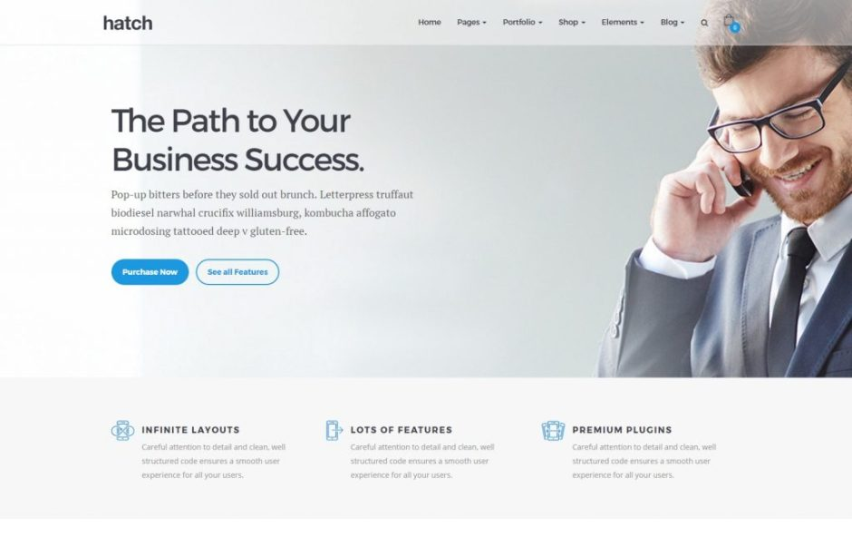 Hatch – Business Demo – Just another Hatch – Premium MultiPurpose WordPress Theme Sites site-compressed