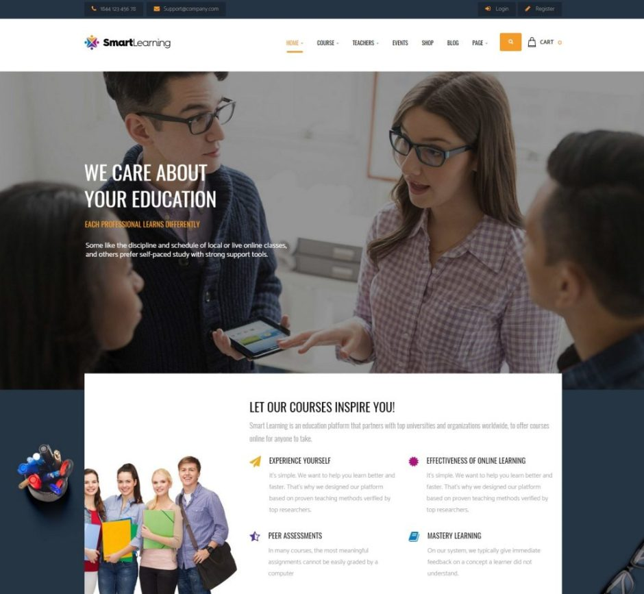 Smart Learning – Responsive WordPress Theme-compressed
