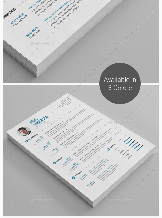 Clean Resume CV by th_studio GraphicRiver