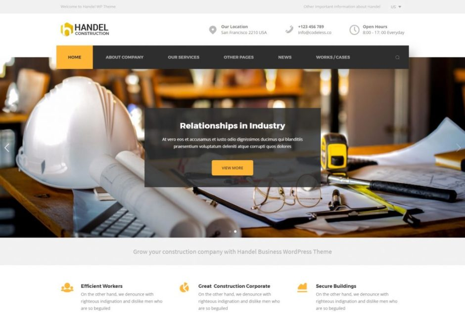 Handel Construction – Responsive Multi Purpose Business WordPress Theme – Just another WordPress site-compressed
