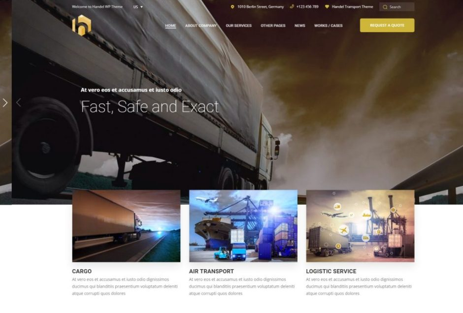 Handel Transport Cargo Logistic Responsive Multi Purpose Business WordPress Theme – Just another WordPress site-compressed