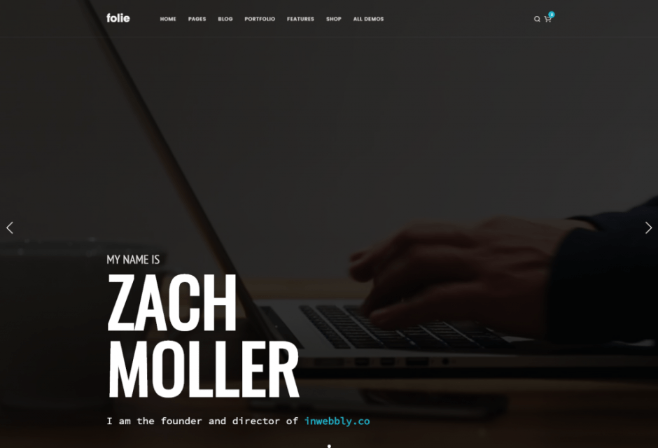 Portfolio Freelance – Folie – The Website Builder – Default Main