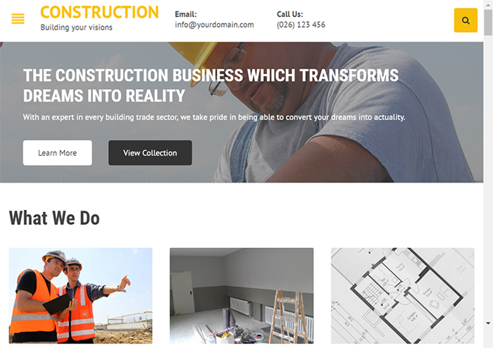Construction copy