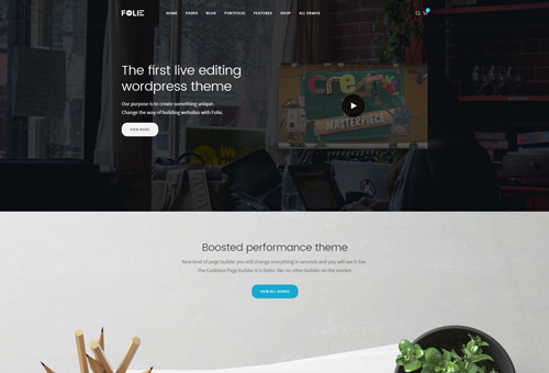 Folie Landing WordPress Theme