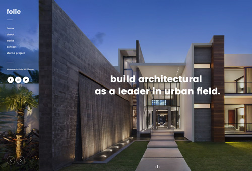 Folie Architecture WordPress Theme