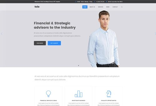 Folie Consulting WordPress Theme