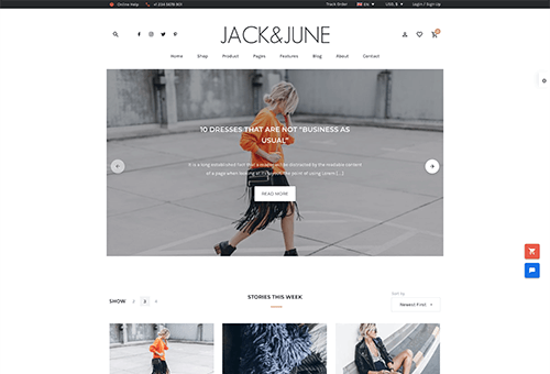 June Blog 2 WordPress Theme