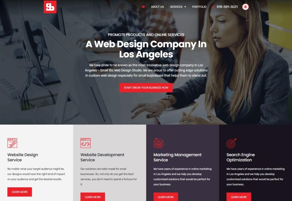 SMALL BIZ WEB DESIGN STUDIO - Best Web Agencies in Los Angeles