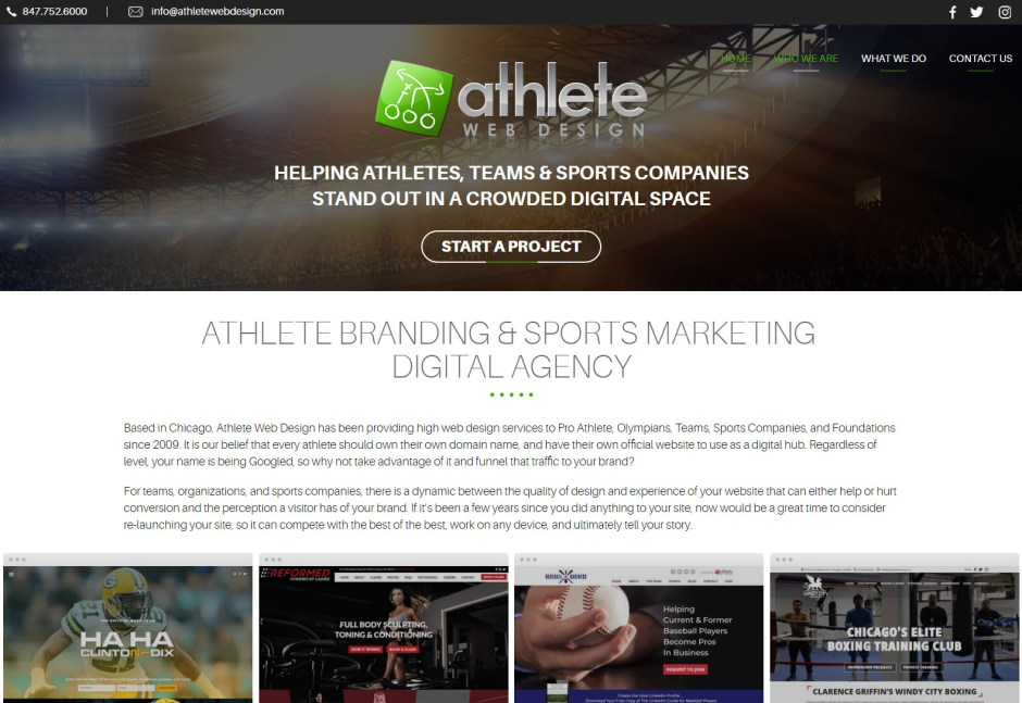 Athlete - Web Agencies in Chicago