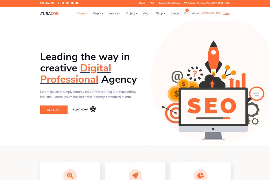 optimize seo digital marketing social media theme free download