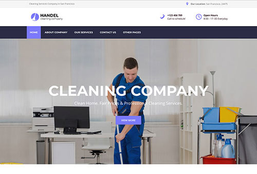 Handel Cleaning WordPress Theme