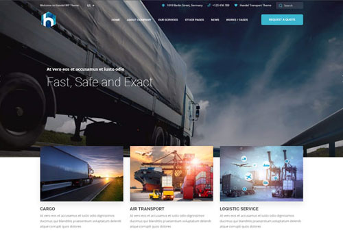 Handel Transport WordPress Theme