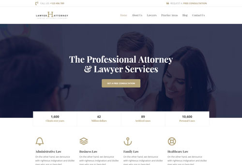 Handel Lawyer WordPress Theme
