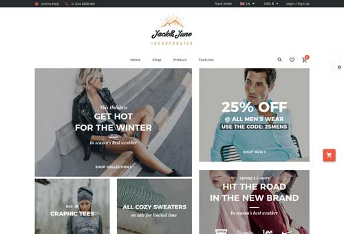 June Shop 6 WordPress Theme