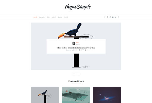 Thype Slider Grid WordPress Theme