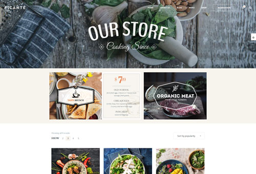 Picante Shop WordPress Theme